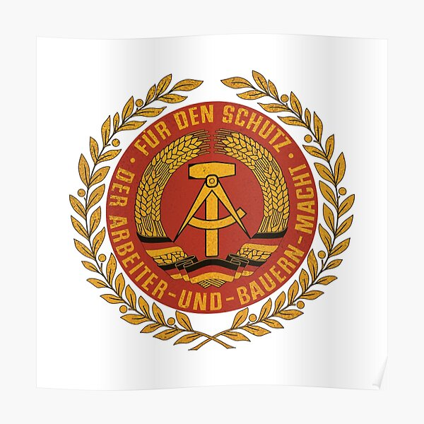 GDR NVA National People's Army Ostalgie Poster