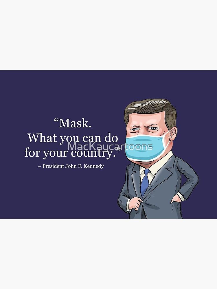 President John F. Kennedy by MacKaycartoons