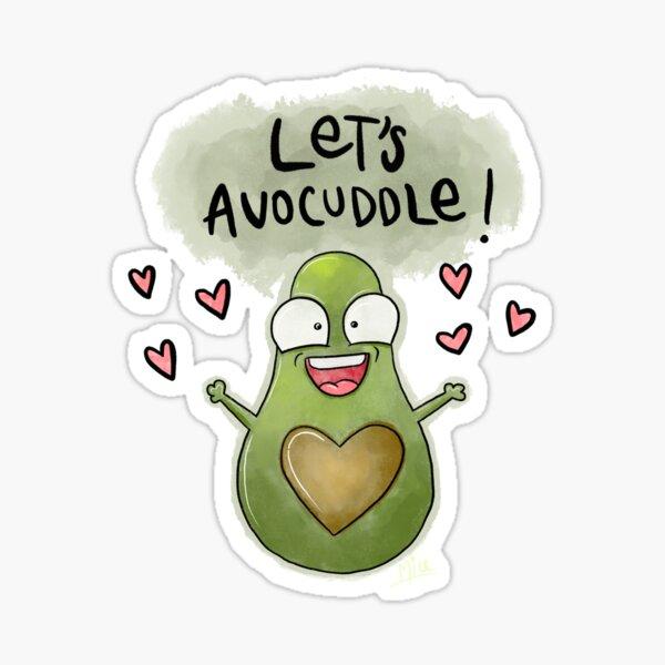 Let's Avocuddle Sticker