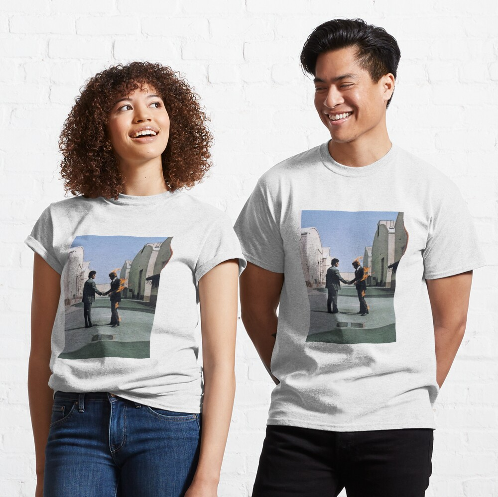 [HIGH QUALITY] Pink Floyd Wish You Were Here Artwork Camiseta clásica