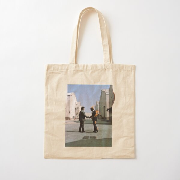 [HIGH QUALITY] Pink Floyd Wish You Were Here Artwork Cotton Tote Bag