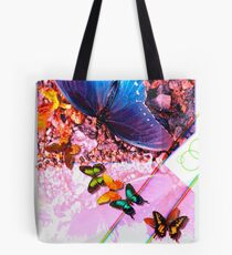 Butterfly graphic with grey gradient Tote Bag