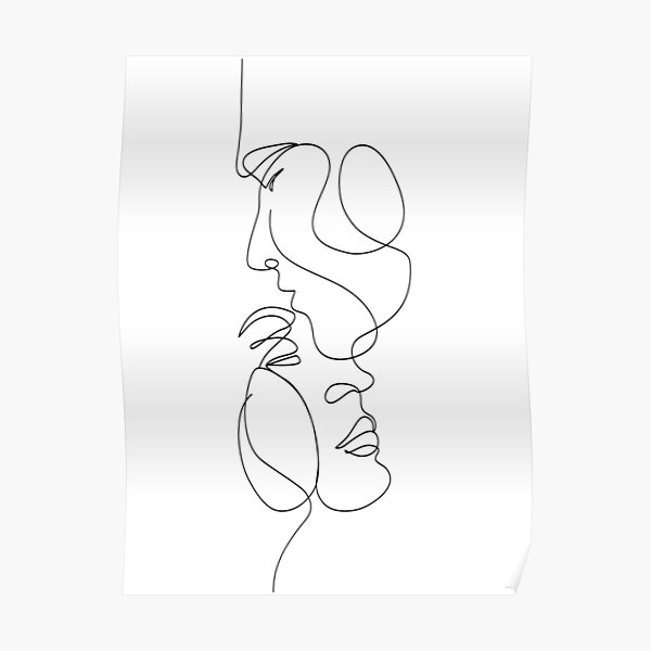 Couple One line Poster