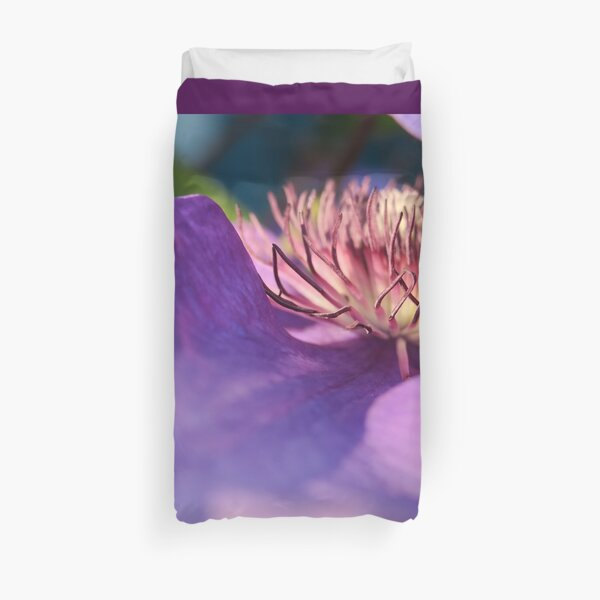 beautiful violet flower Duvet Cover