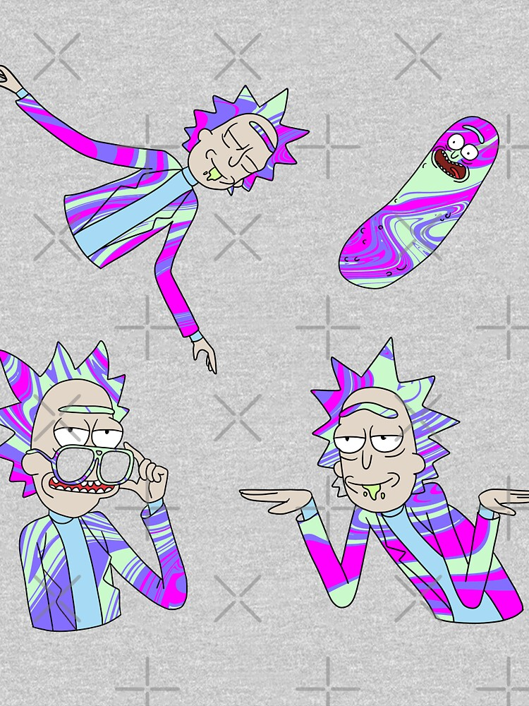 trippy rick sanchez (rick and morty) by illhustration
