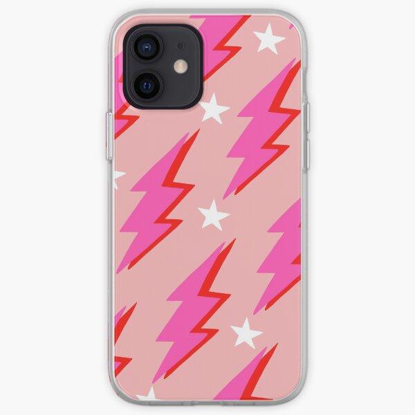 Pink Lightning Bolt iPhone Soft Case