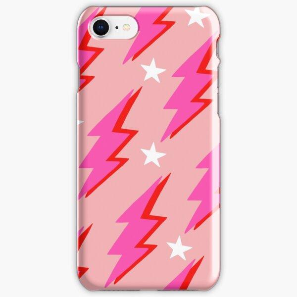 Pink Lightning Bolt iPhone Snap Case