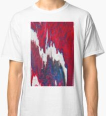Paint - Blue White Red Dripped Classic T-Shirt