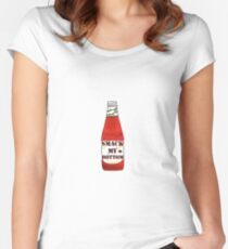 Ketchup with the Program  Women's Fitted Scoop T-Shirt
