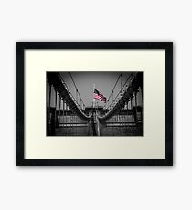 Sorrow at Brooklyn Bridge Framed Print