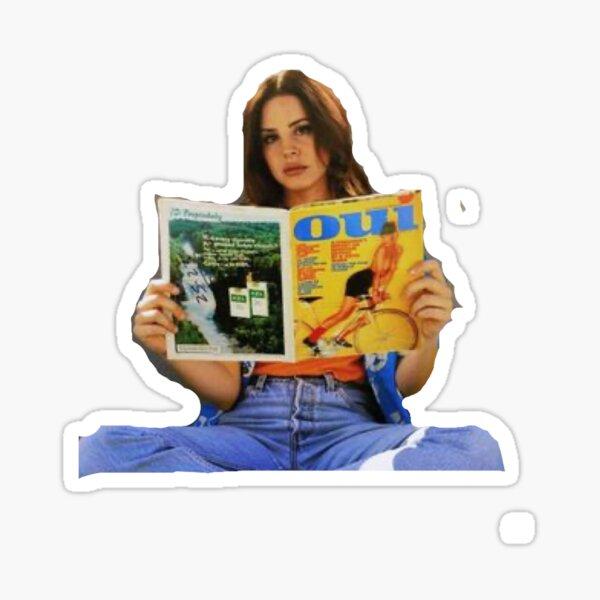 Lana dark ray reading oui magazine Sticker