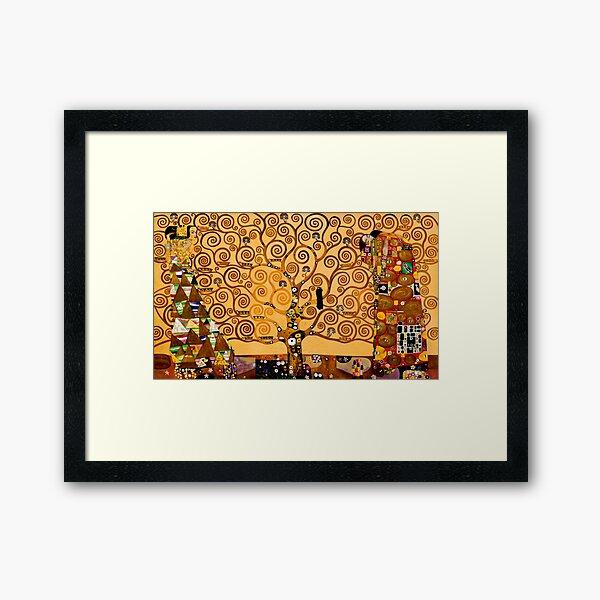 Arbre de la vie par Gustav Klimt Fine Art Impression encadrée