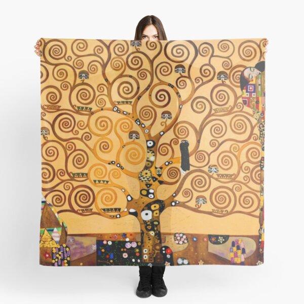Tree of Life by Gustav Klimt Fine Art Scarf