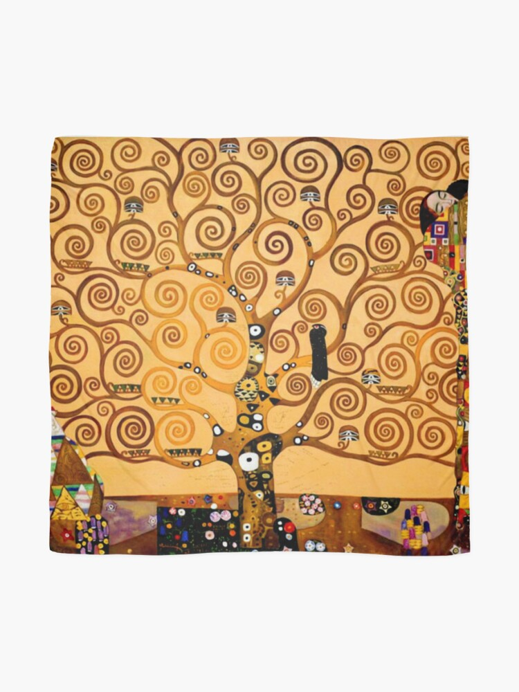 Alternate view of Tree of Life by Gustav Klimt Fine Art Scarf