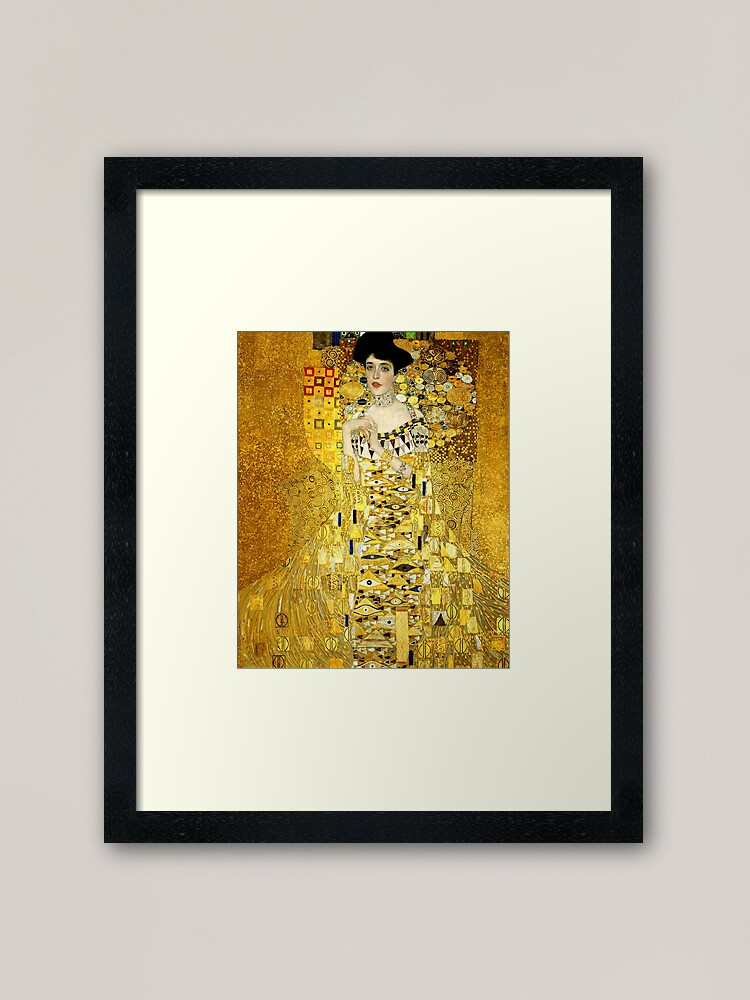 Alternate view of Adele Bloch-Bauer I by Gustav Klimt Fine Art Framed Art Print