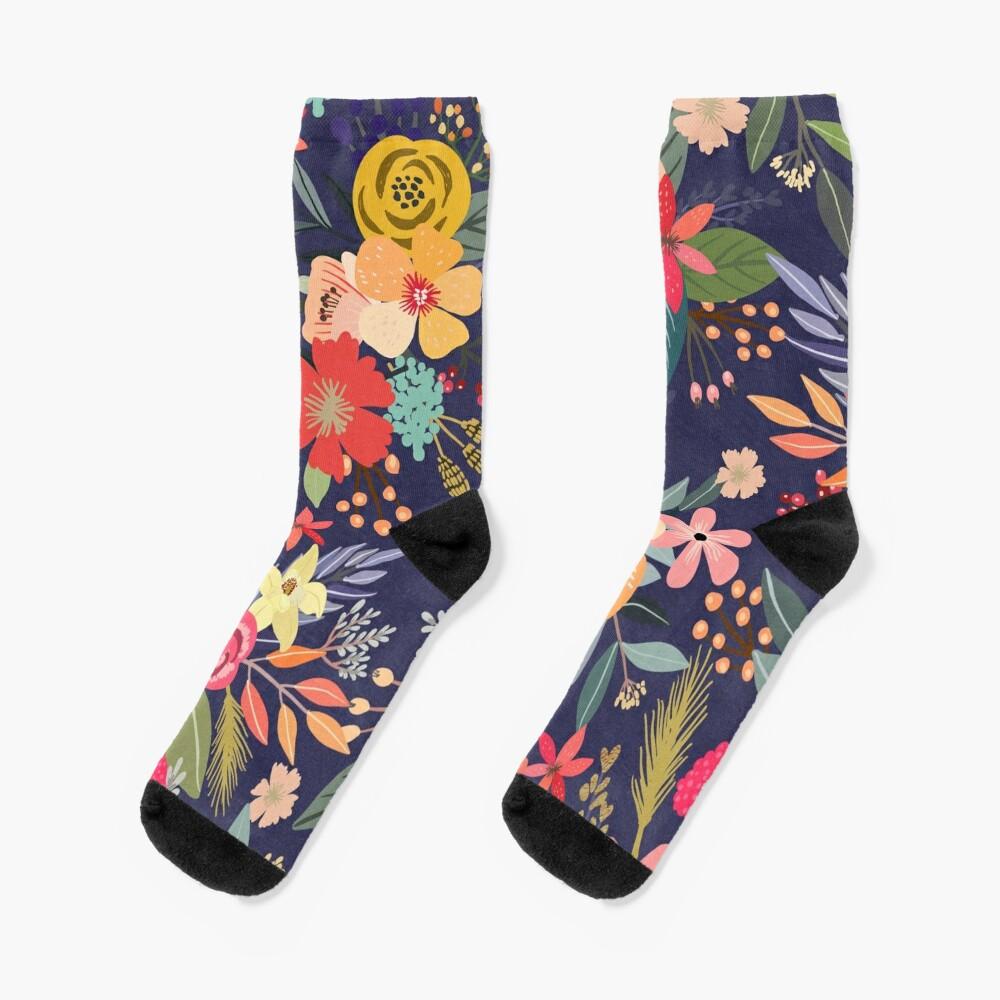 Carpe Diem with flowers Socks