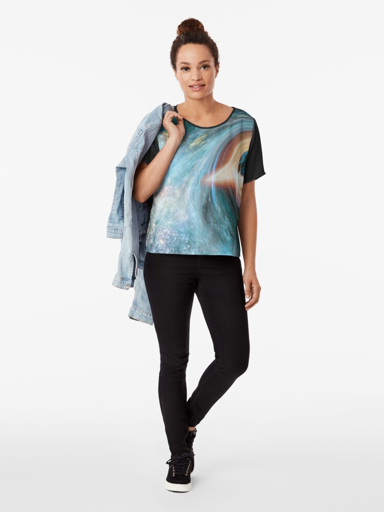 Alternate view of Black Hole, Spacetime, Gravity  Chiffon Top