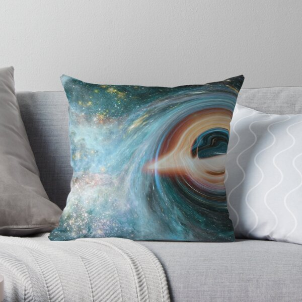 Black Hole, Spacetime, Gravity  Throw Pillow