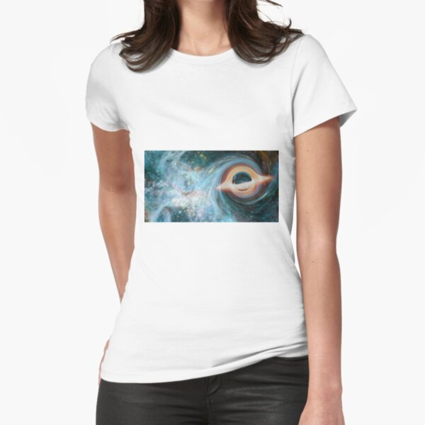 Black Hole, Spacetime, Gravity  Fitted T-Shirt