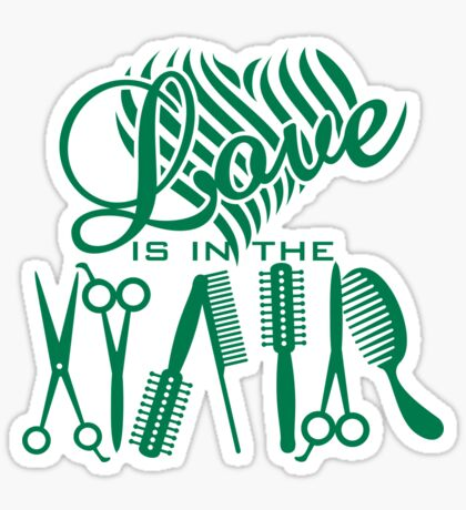 Love is in the Hair VRS2 Sticker