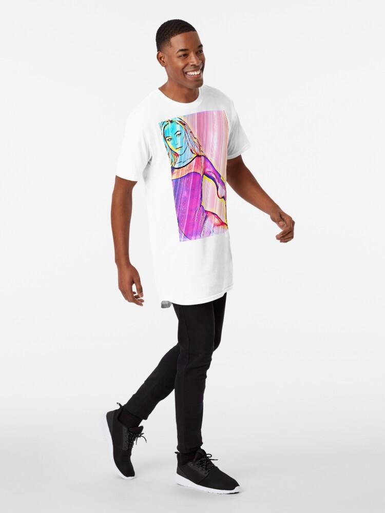 Alternate view of Pop Art Ballerina  Long T-Shirt