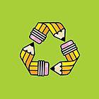 Creativity Cycle (Yellow School Pencil) by Troy Sizer