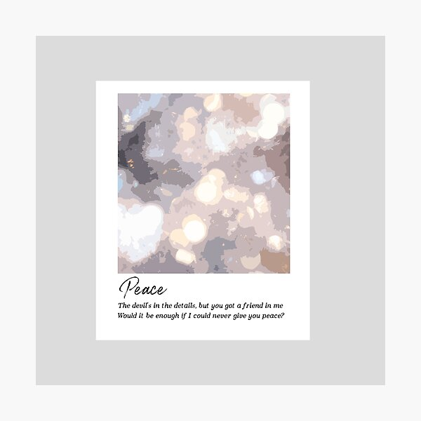 Peace - Taylor Swift Photographic Print