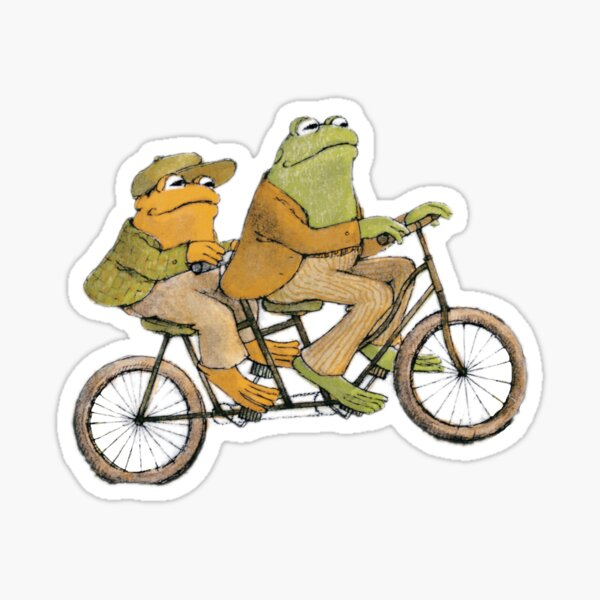 Frog and Toad rolling Sticker