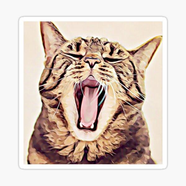Wild Thing Tabby Cat Art Sticker