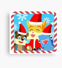 Minecraft Youtuber Stampy Cat, iBallisticsquid, L for Lee x (Christmas, Holiday, Winter Limited Edition) Canvas Print