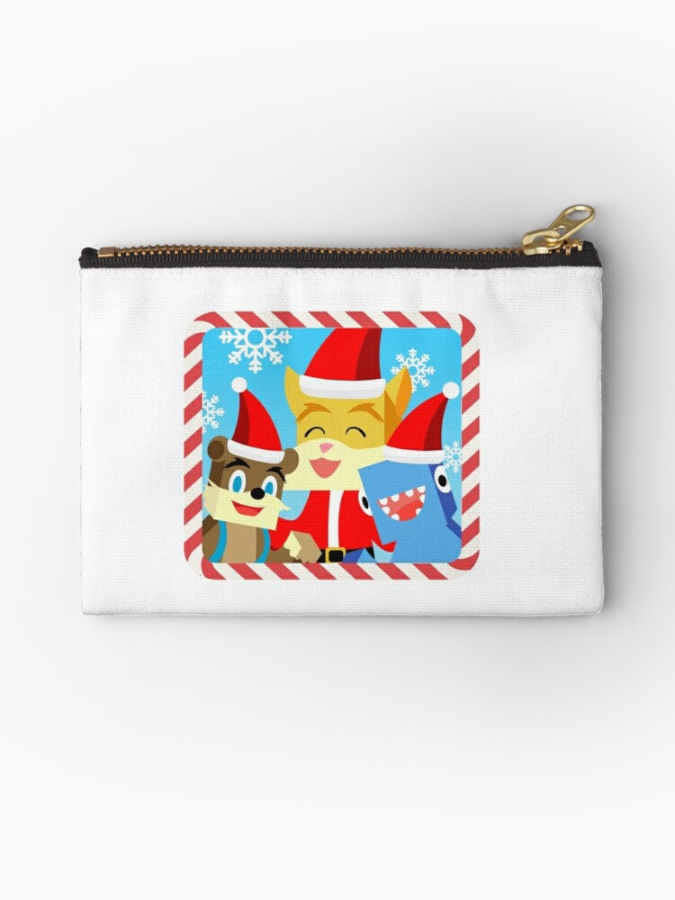 Stampylonghead Christmas.Minecraft Youtuber Stampy Cat Iballisticsquid L For Lee X Christmas Holiday Winter Limited Edition Zipper Pouch