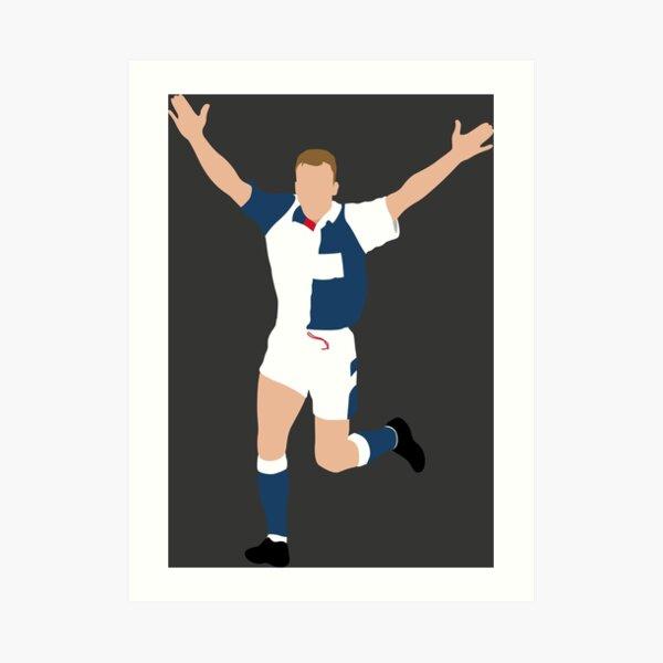 Alan Shearer, Blackburn Rovers. Art Print
