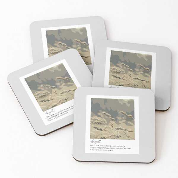August - Taylor Swift Coasters (Set of 4)