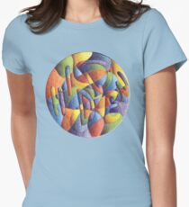 Hidden in Plain View Mandala - T-Shirt/Clothing Womens Fitted T-Shirt