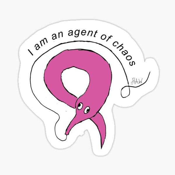 Squirmle: Agent of Chaos Sticker