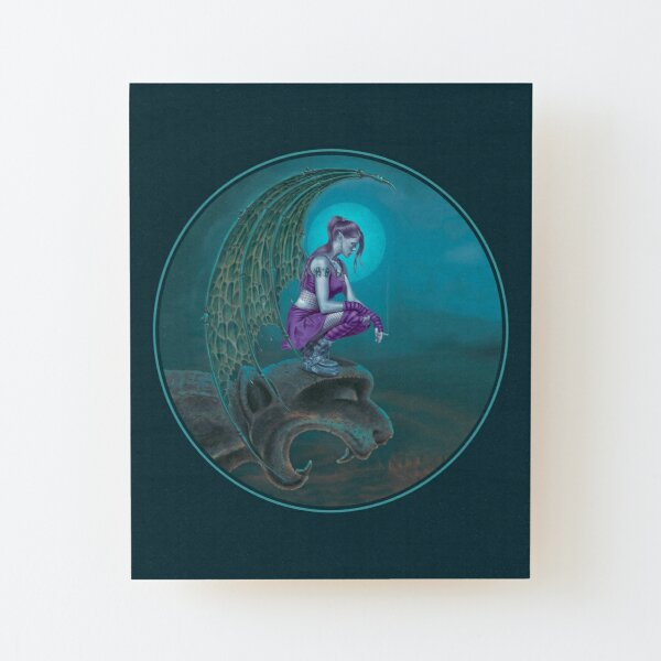 Succubus Moon Wood Mounted Print