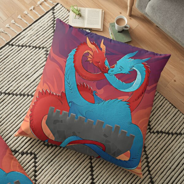 Dragon love Floor Pillow