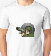 Soldier Aiming Bazooka Unisex T-Shirt