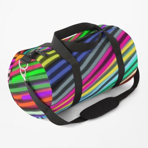 Neon lines on Duffle Bag