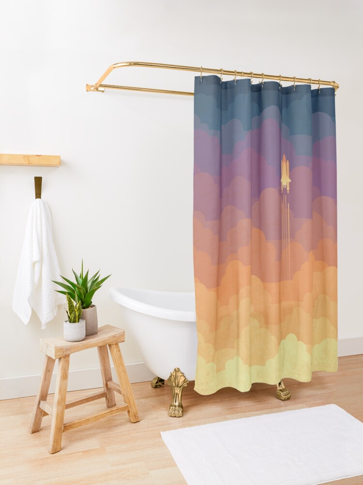 Alternate view of Clouds Shower Curtain