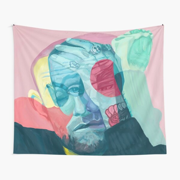 Collage Head Mac Tapestry