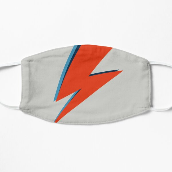 (01 Gray) Lightning Bolt | Fabric Face Mask | Reusable Facemask | Washable Face Cover | All Over T Shirt | Wall Art | Rock n Roll | Symbol Design | Black | Macbook Pro Air | Stay Home Again Mask