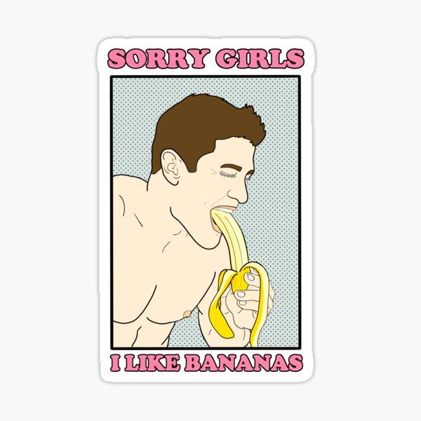 Lo siento chicas, me gustan los plátanos Pegatina
