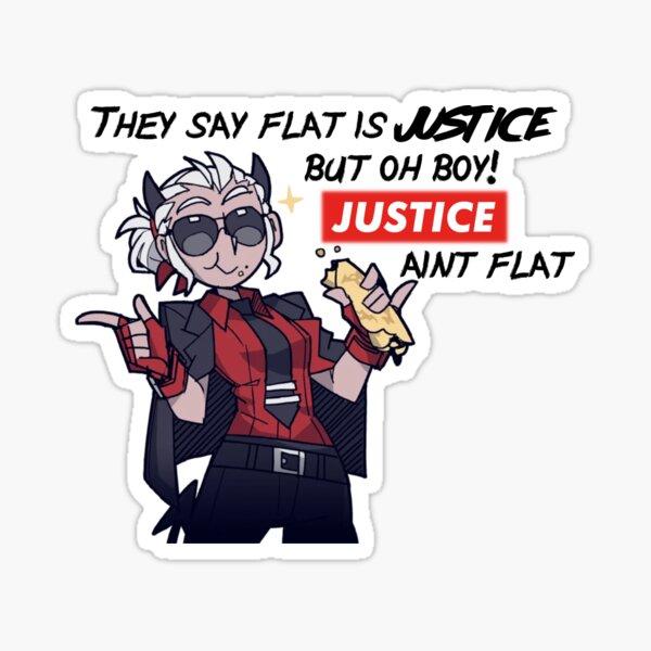 Helltaker Justice Aint Flat Sticker