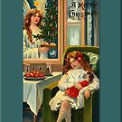 A Merry Christmas Greeting Card by Yesteryears