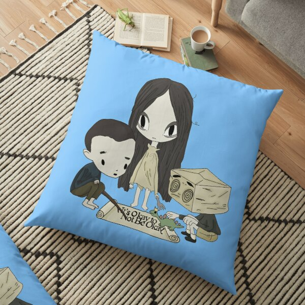 It's okay to not be okay cartoon animation dolls kdrama story book fairytale  Floor Pillow