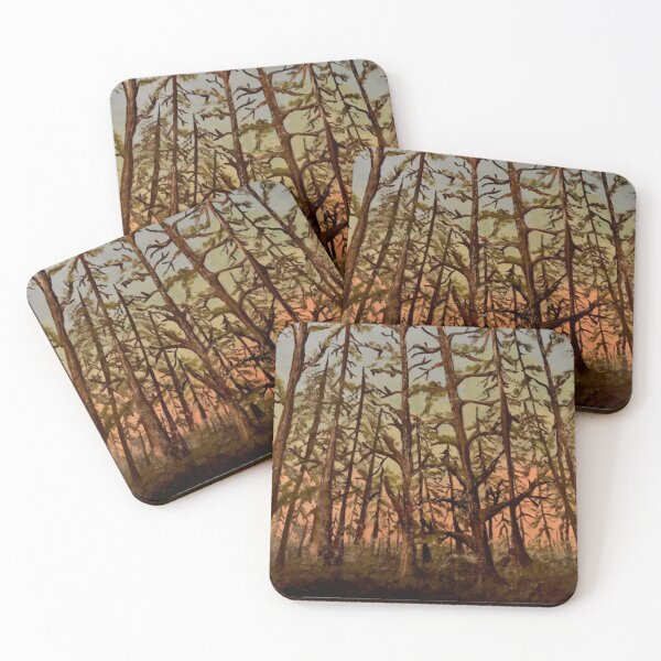 Early Spring Hike Coasters (Set of 4)