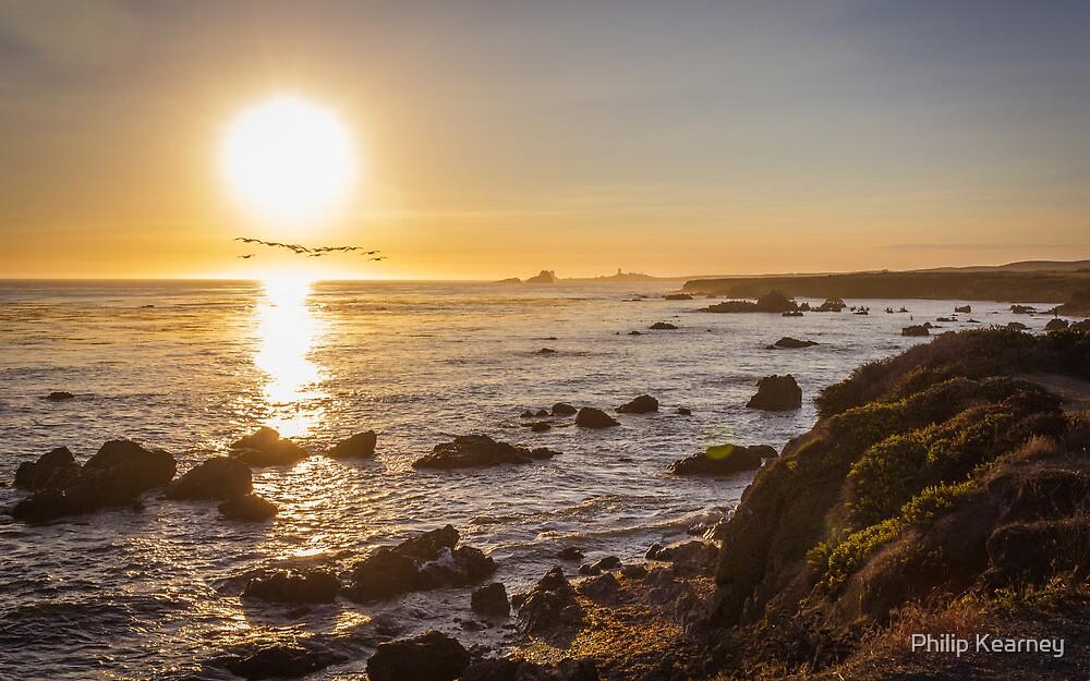 San Simeon, sunset by Philip Kearney