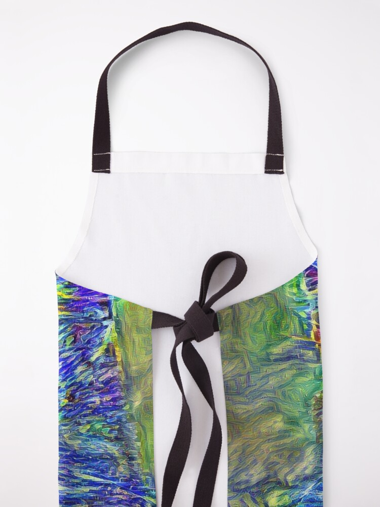 Alternate view of Artificial neural style Post-Impressionism cat Apron