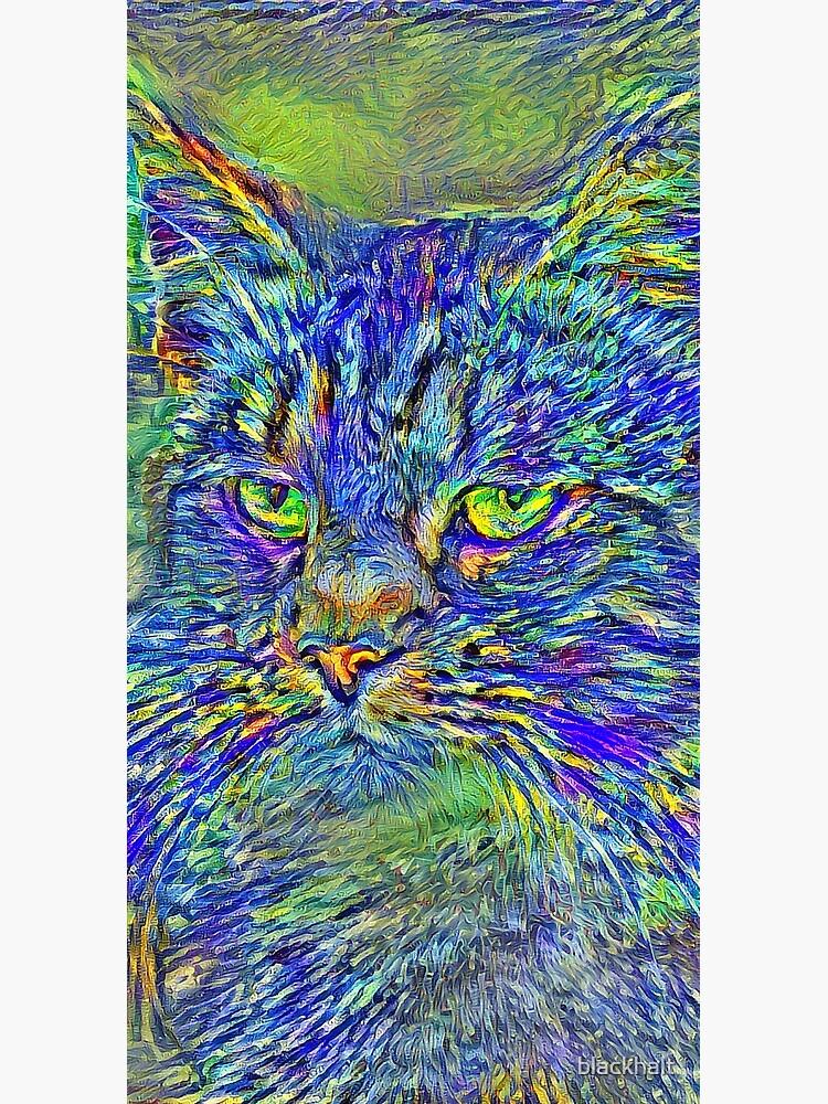 Artificial neural style Post-Impressionism cat by blackhalt